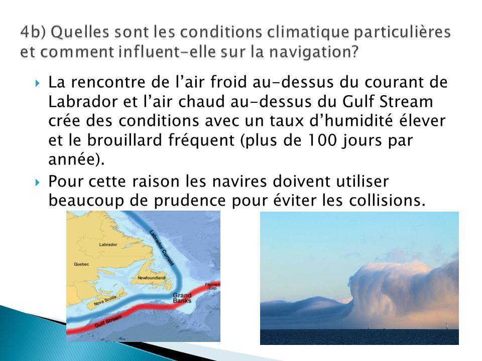 4b) Quelles sont les conditions climatique particulières et comment influent-elle sur la navigation