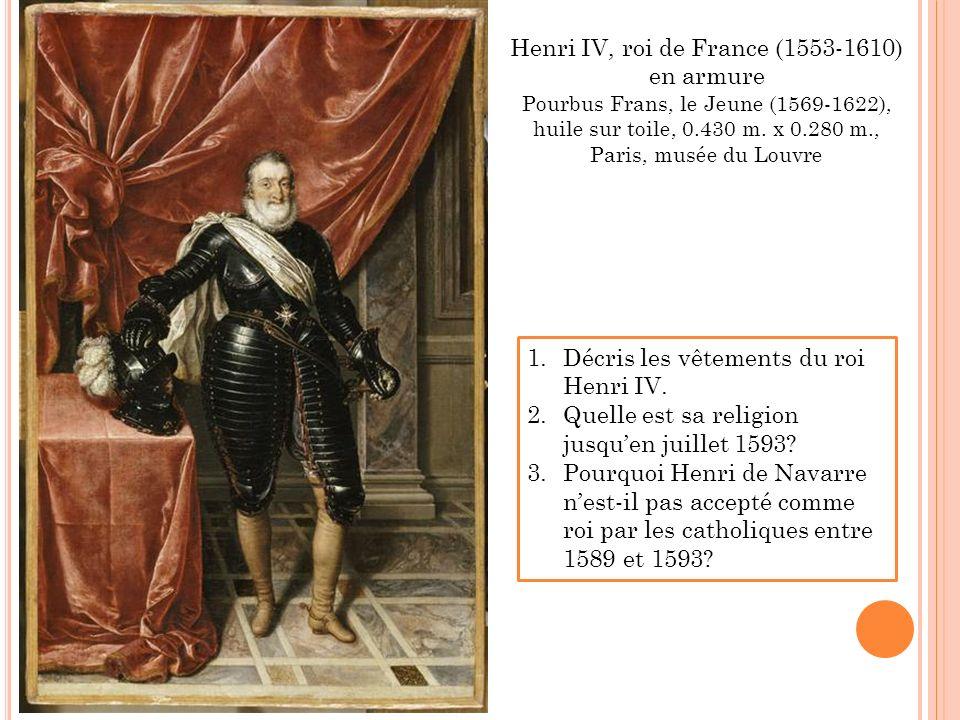 Henri IV, roi de France (1553-1610) en armure