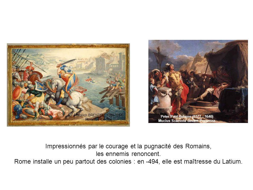 Impressionnés par le courage et la pugnacité des Romains,