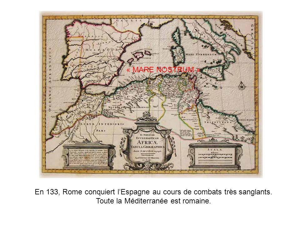 En 133, Rome conquiert l'Espagne au cours de combats très sanglants.