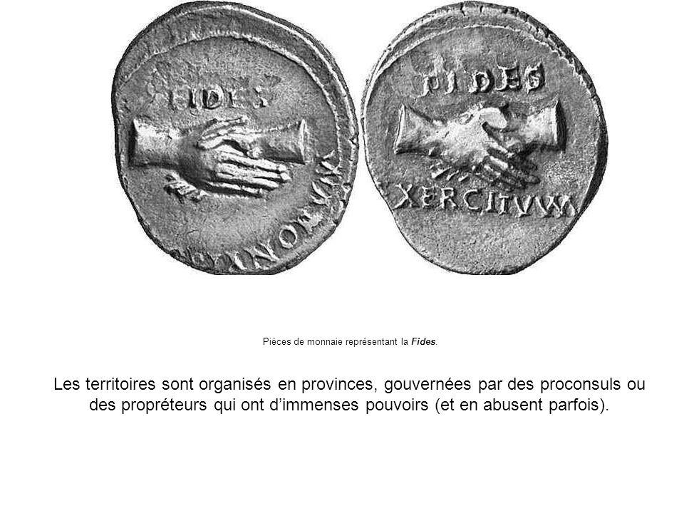 Pièces de monnaie représentant la Fides.
