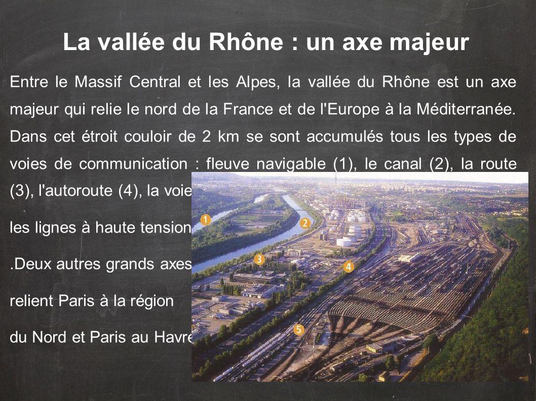 La vallée du Rhône : un axe majeur