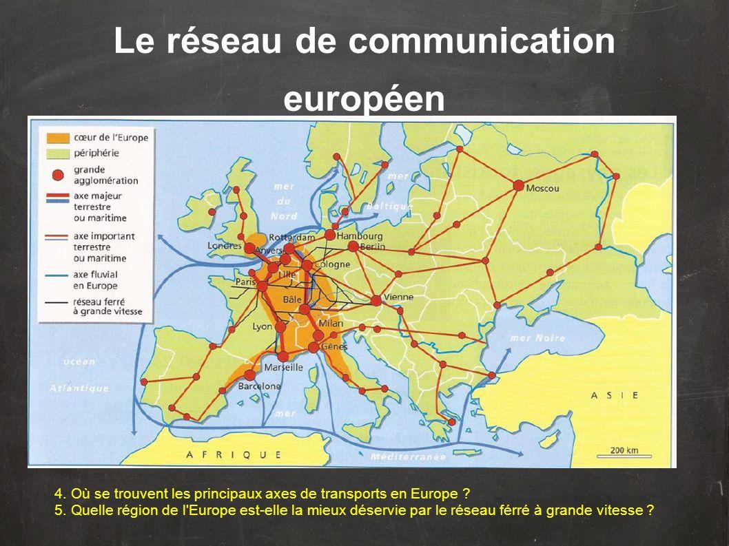 Le réseau de communication européen