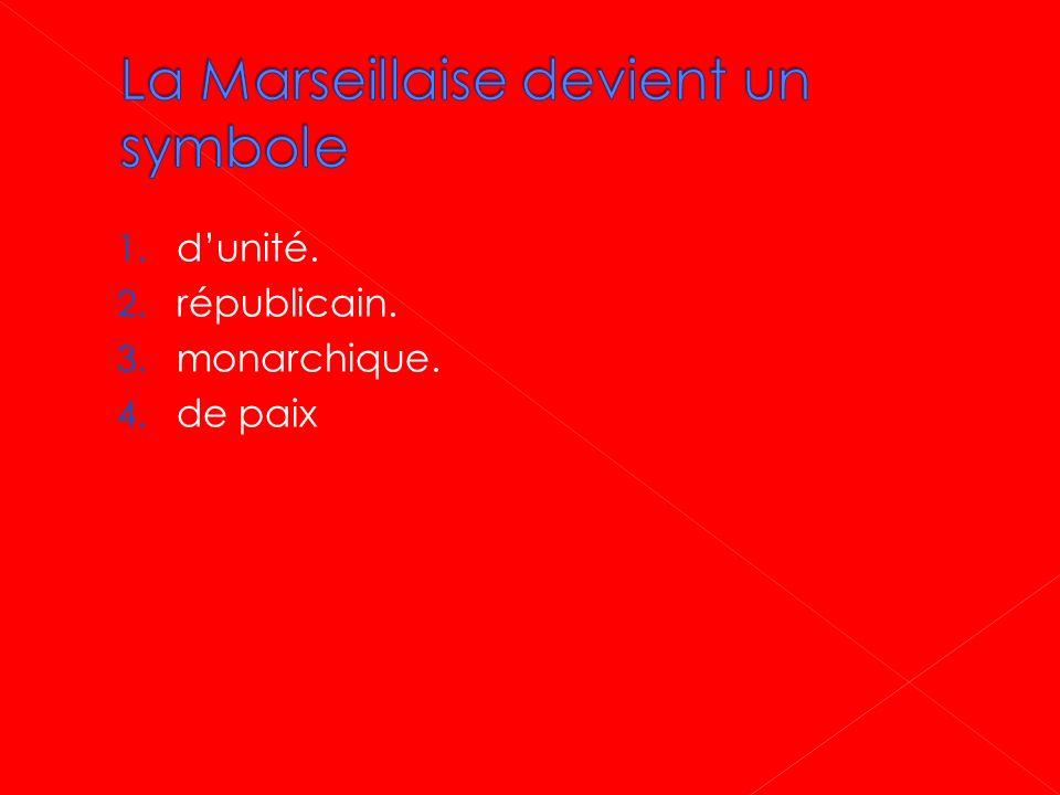La Marseillaise devient un symbole