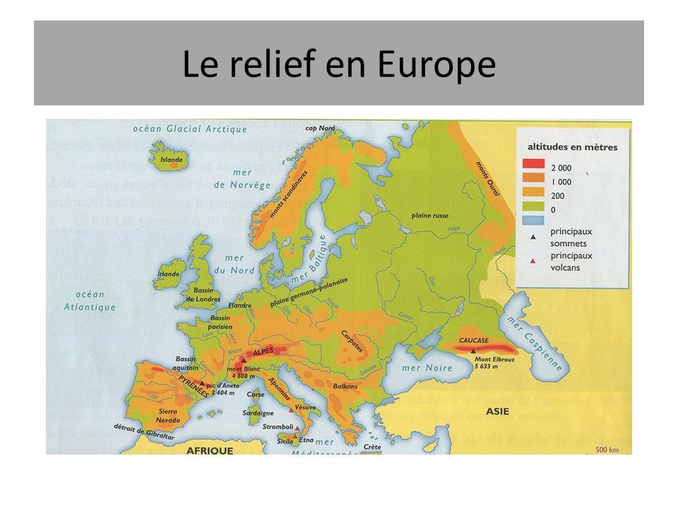 Le relief en Europe