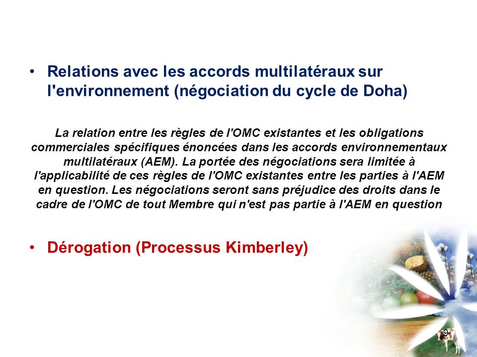 Dérogation (Processus Kimberley)