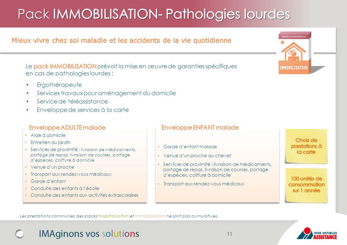 Pack IMMOBILISATION- Pathologies lourdes