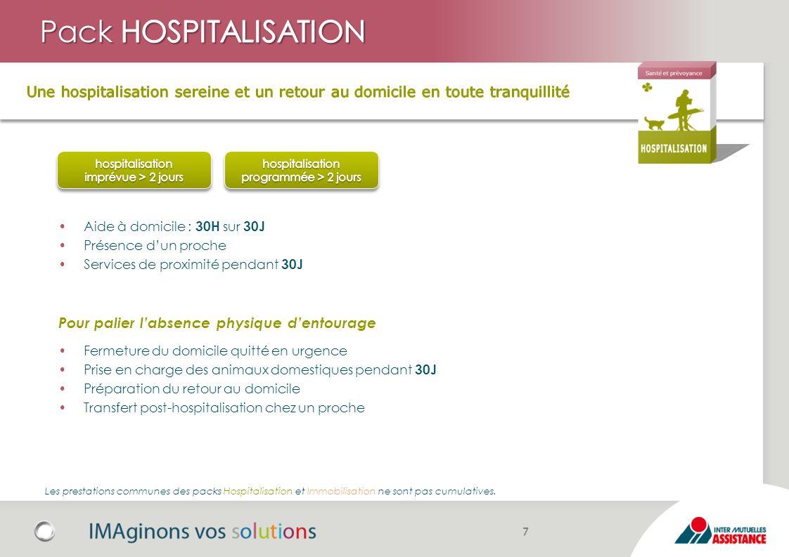 Pack HOSPITALISATION Une hospitalisation sereine et un retour au domicile en toute tranquillité. hospitalisation.