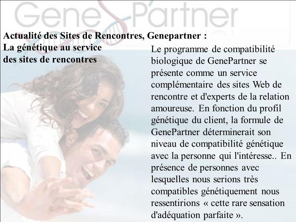 Actualité des Sites de Rencontres, Genepartner : La génétique au service des sites de rencontres