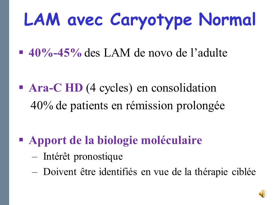 LAM avec Caryotype Normal