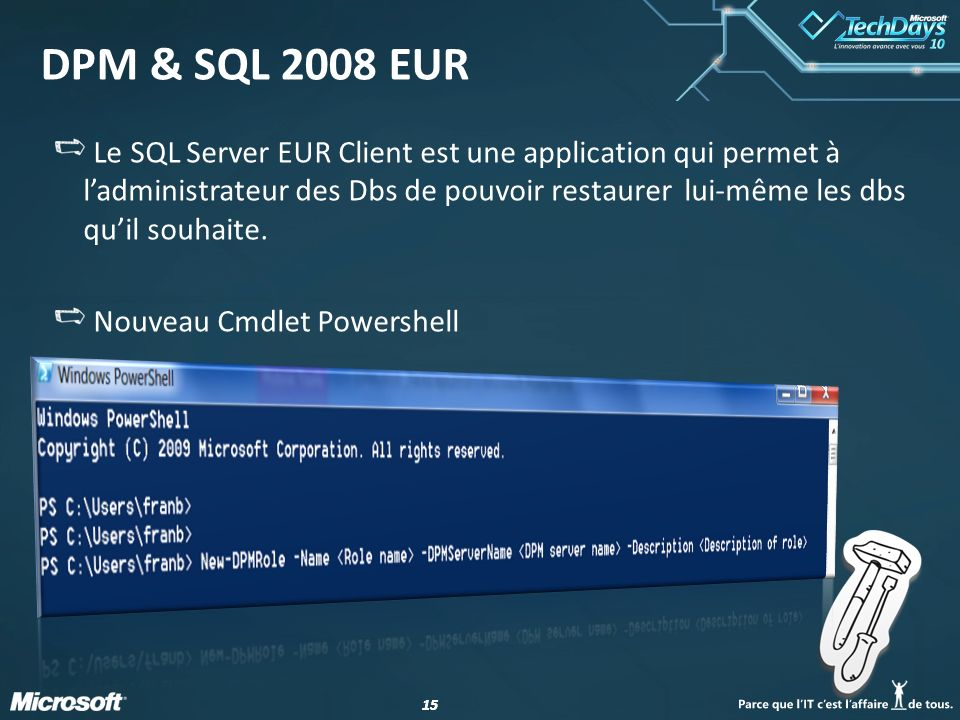 DPM & SQL 2008 EUR