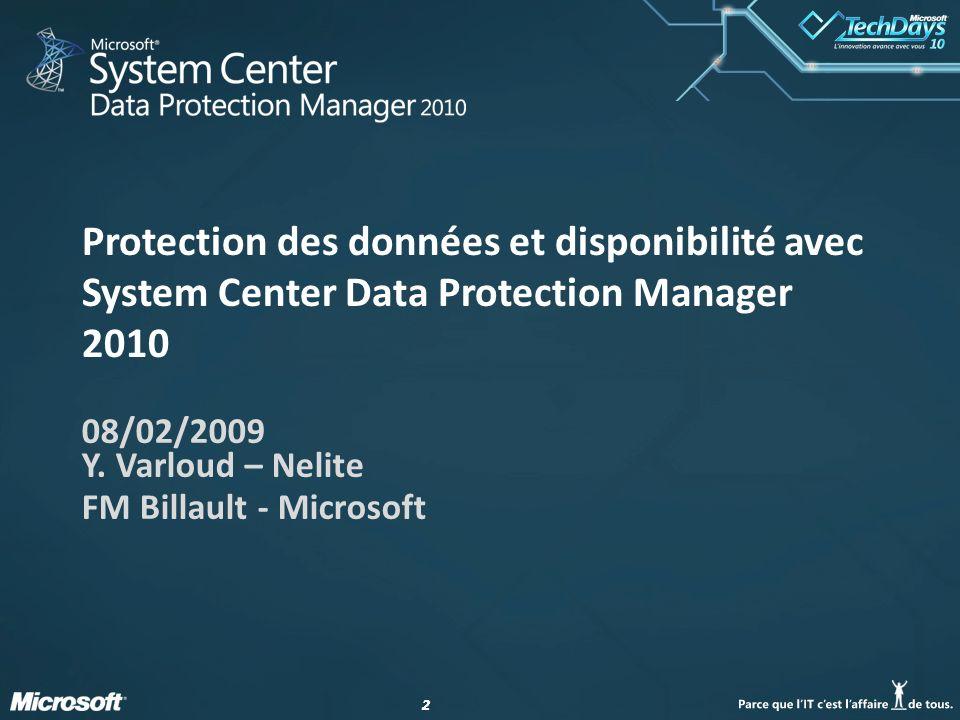 08/02/2009 Y. Varloud – Nelite FM Billault - Microsoft