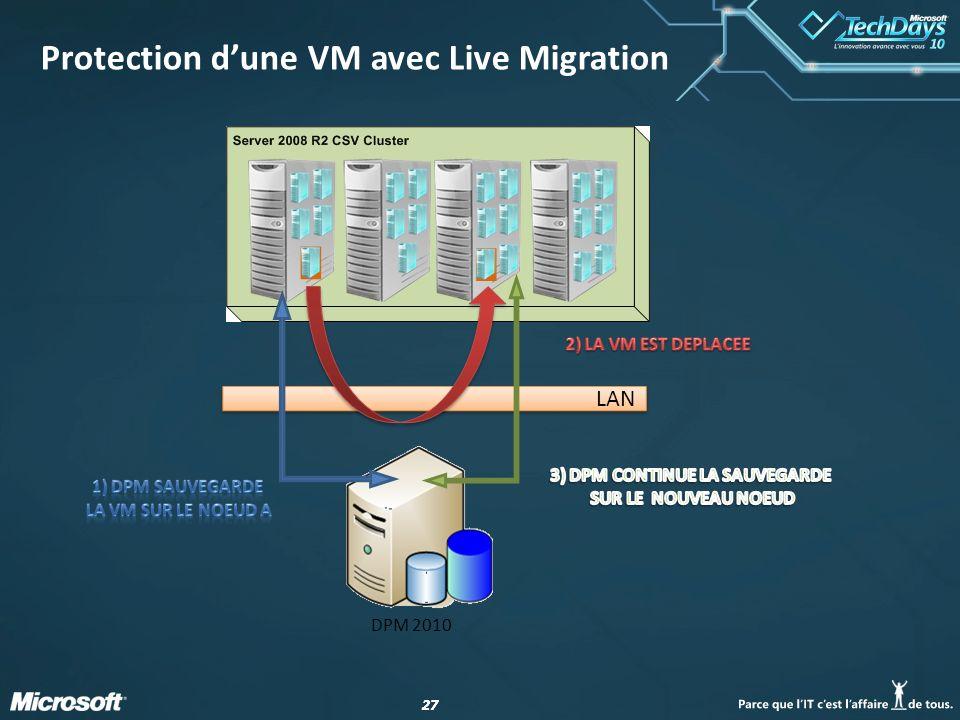 Protection d'une VM avec Live Migration