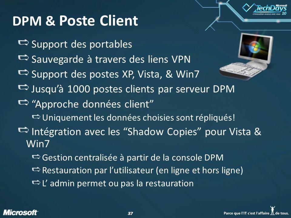 DPM & Poste Client Support des portables