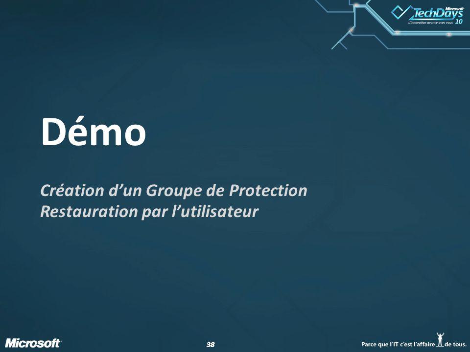 Création d'un Groupe de Protection Restauration par l'utilisateur