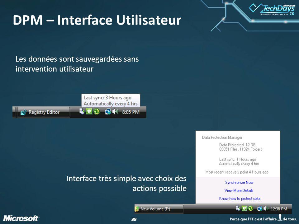 DPM – Interface Utilisateur