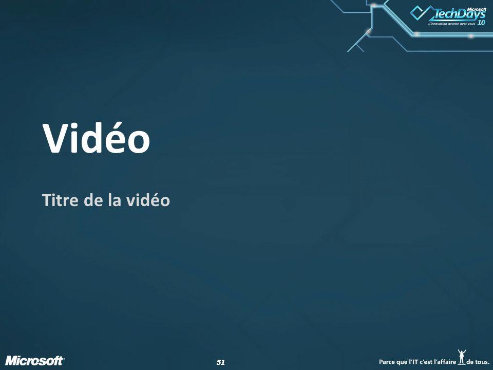 Vidéo Titre de la vidéo date