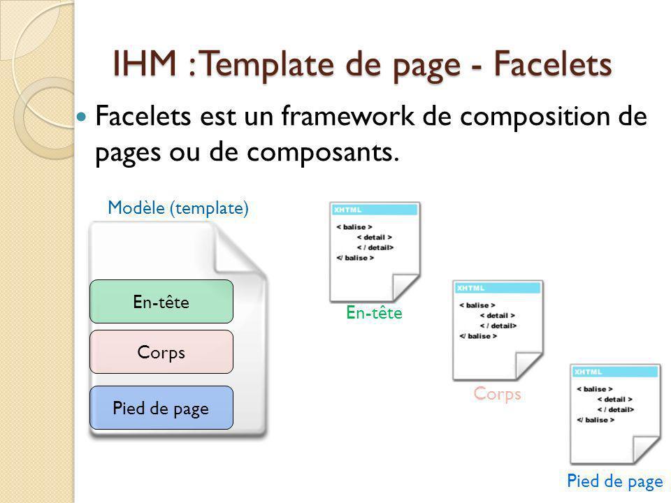 IHM : Template de page - Facelets