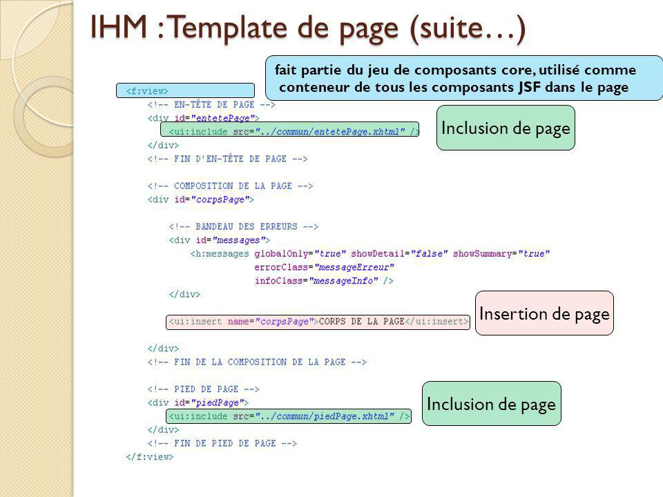 IHM : Template de page (suite…)