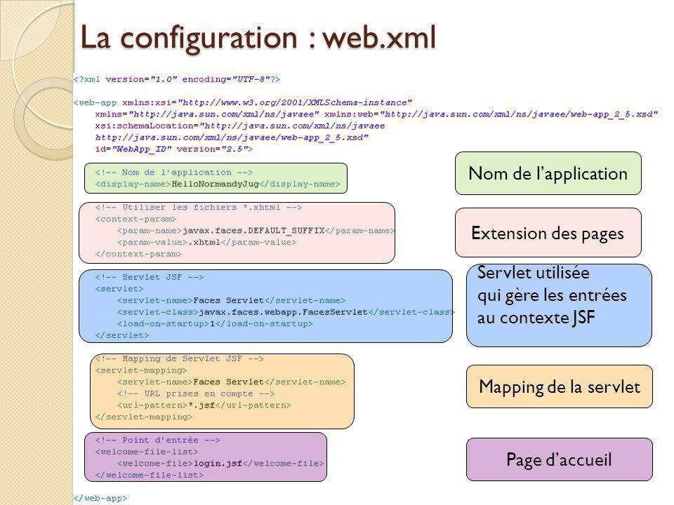 La configuration : web.xml