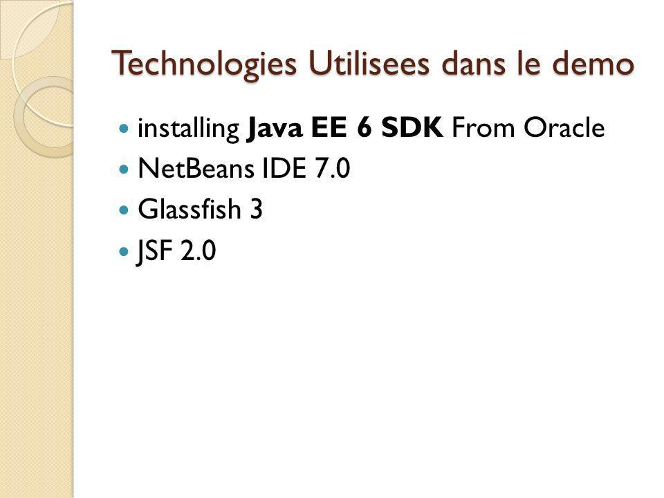 Technologies Utilisees dans le demo