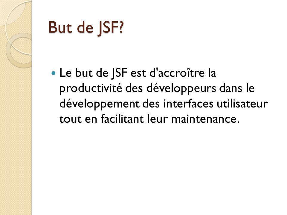 But de JSF