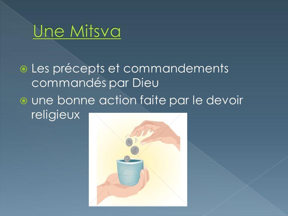 Une Mitsva Les précepts et commandements commandés par Dieu