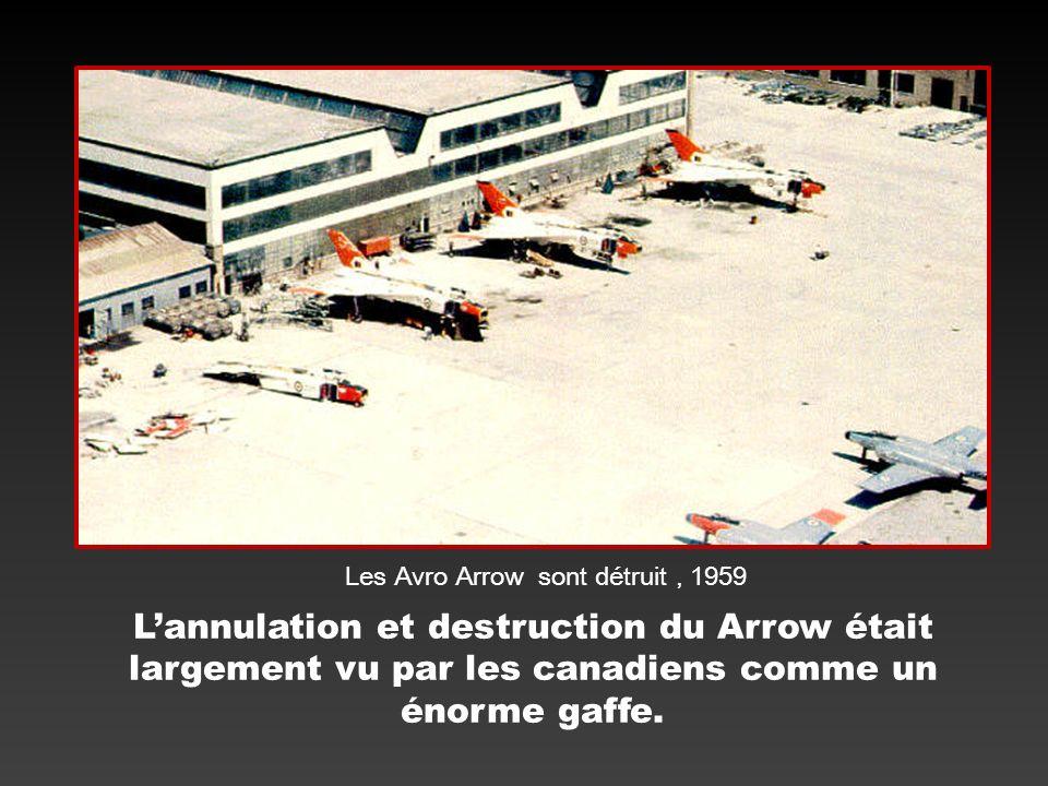 Les Avro Arrow sont détruit , 1959