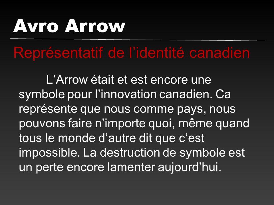 Avro Arrow Représentatif de l'identité canadien