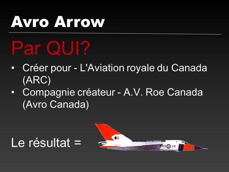 Par QUI Avro Arrow Le résultat =