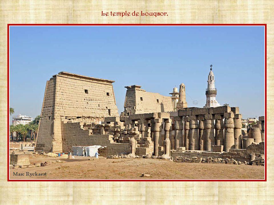 Le temple de Louqsor.