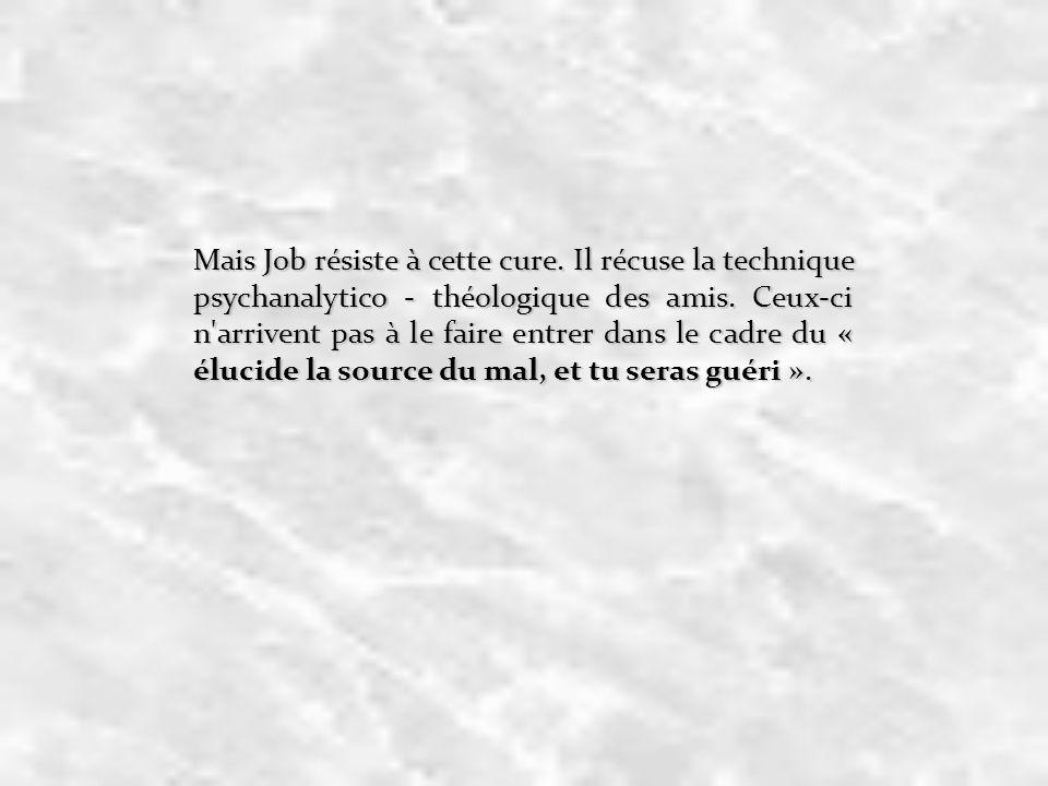 Mais Job résiste à cette cure