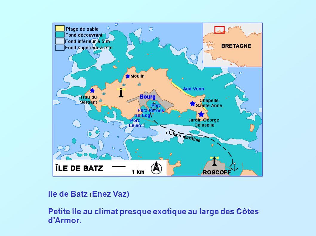 Ile de Batz (Enez Vaz) Petite île au climat presque exotique au large des Côtes d Armor.