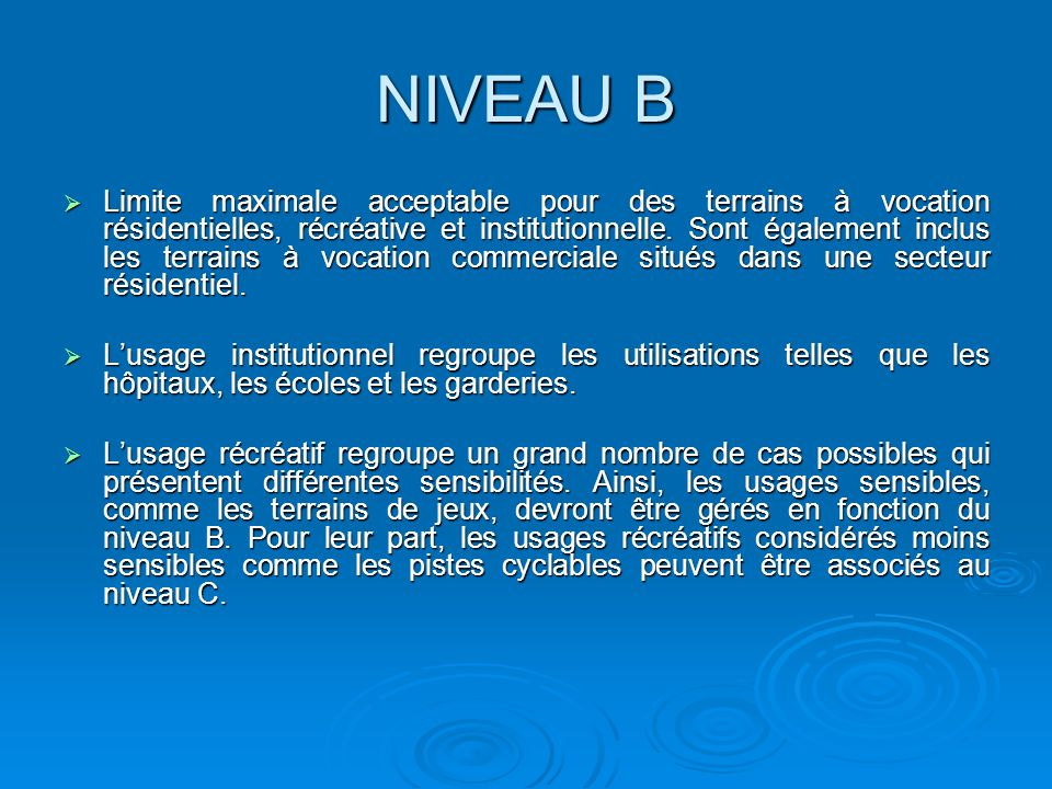 NIVEAU B