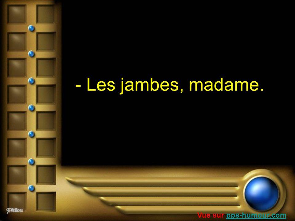 - Les jambes, madame. Vue sur pps-humour.com