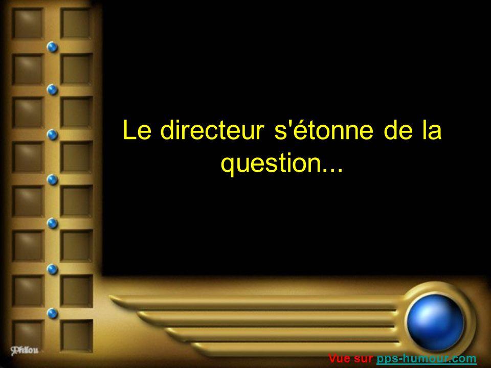 Le directeur s étonne de la question...