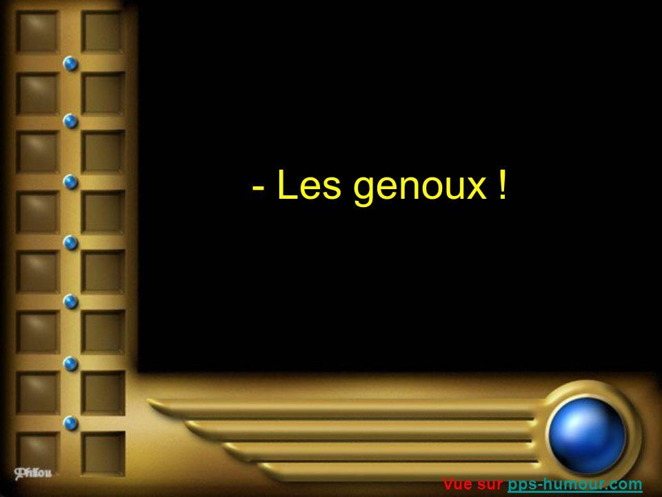 - Les genoux ! Vue sur pps-humour.com