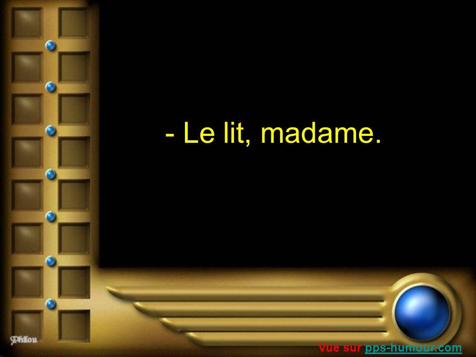 - Le lit, madame. Vue sur pps-humour.com
