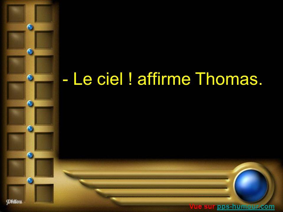 - Le ciel ! affirme Thomas.