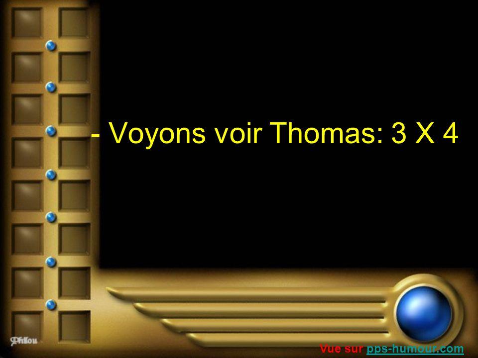 - Voyons voir Thomas: 3 X 4 Vue sur pps-humour.com