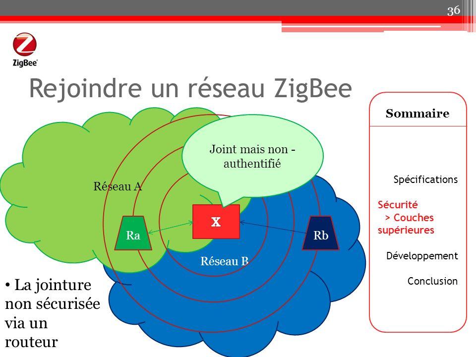 Rejoindre un réseau ZigBee