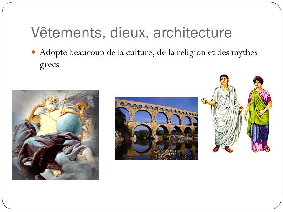 Vêtements, dieux, architecture