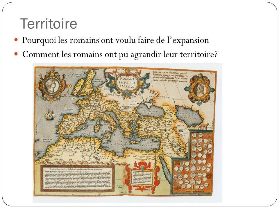 Territoire Pourquoi les romains ont voulu faire de l'expansion