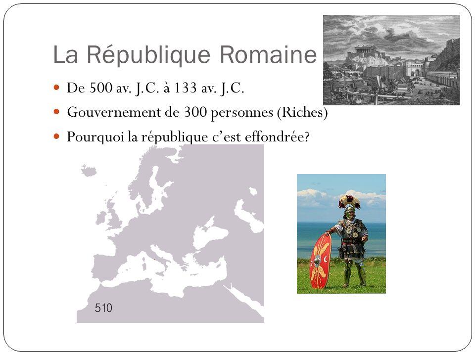 La République Romaine De 500 av. J.C. à 133 av. J.C.