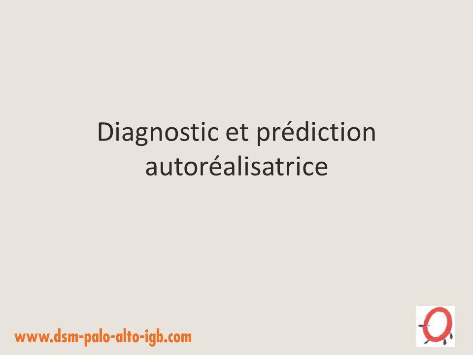 Diagnostic et prédiction autoréalisatrice