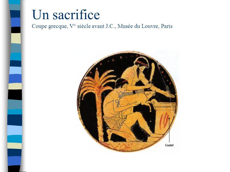 Un sacrifice Coupe grecque, V° siècle avant J. C