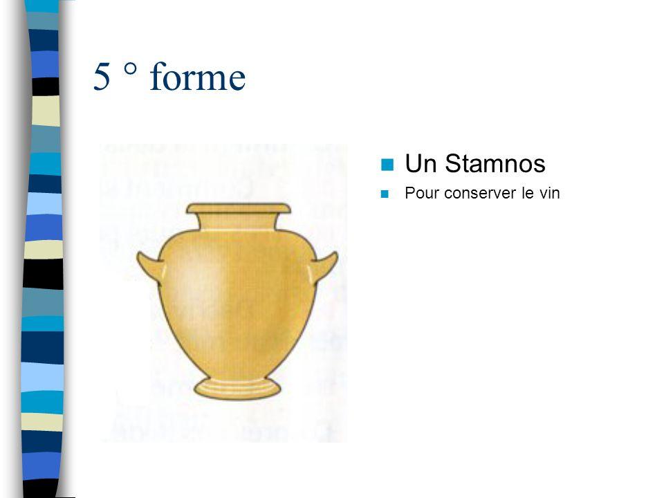 5 ° forme Un Stamnos Pour conserver le vin