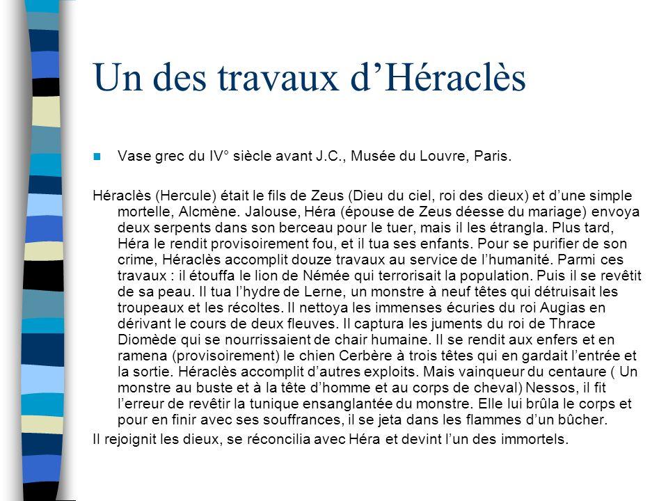 Un des travaux d'Héraclès