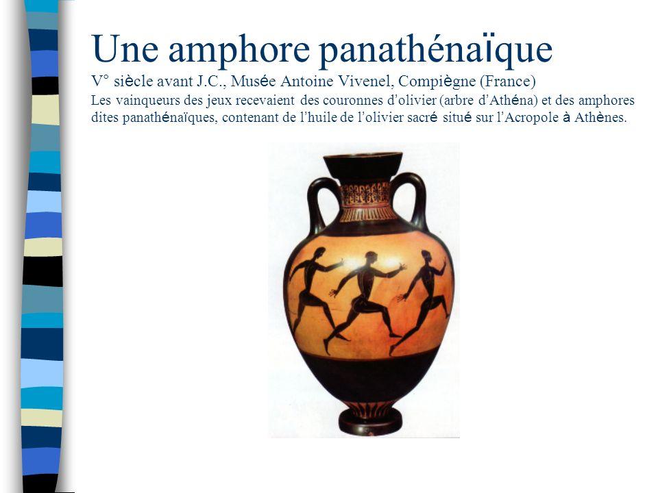 Une amphore panathénaïque V° siècle avant J. C