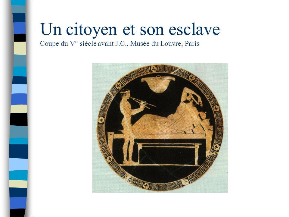 Un citoyen et son esclave Coupe du V° siècle avant J. C